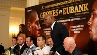 Chris Eubank jumps to son's defence after George Groves call him 'Insta famous'