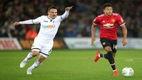 Jesse Lingard's double eases Man United past Swansea in Carabao Cup