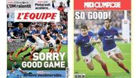 French papers descend to using English to describe joy of beating old enemy