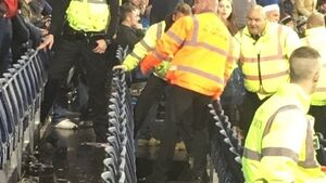 Three hurt as part of floor collapses in stands at England cricket match