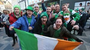 Irish fans show their colours ahead of World cup play-off