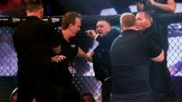 Conor McGregor in altercation with referee after team-mate's win in Dublin