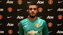 Romero in goal for United's FA Cup match against Derby