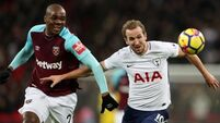 Frustrating night for Spurs in West Ham clash