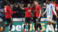 Romelu Lukaku at the double as Man United overcome VAR controversy at Huddersfield