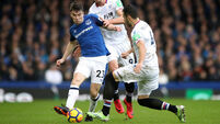 Seamus Coleman subbed off at half-time with new injury