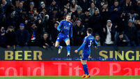 Jamie Vardy header sinks blades and sends Leicester into last eight