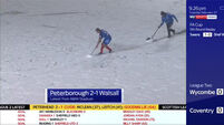 Ex-Newcastle player takes desperate measures to ensure game finishes on snow-covered pitch