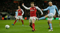 Man City thrash Arsenal; Guardiola clinches his first trophy in English football