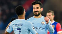 Nine-minute goal blast all but seals Man City's quarter-final spot
