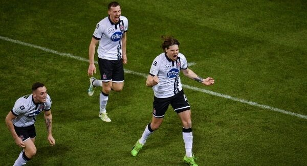 Niclas Vemmelund of Dundalk celebrating his goal. Picture: Sportsfile