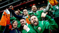 Ireland fans after the game 11/11/2017