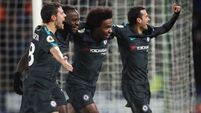 Willian and Hazard: Chelsea 'fighting until the end' for title