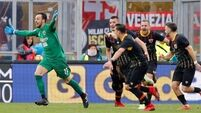 See Benevento's goalkeeper score deep in injury time to earn point against Milan