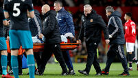 Man United short on strikers as Ibrahimovic out for a month and Lukaku stretchered off