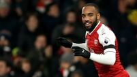 Arsenal without Alexandre Lacazette for Man Utd clash