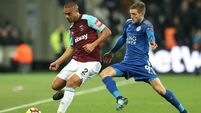 First point for West Ham under Moyes after draw with Leicester