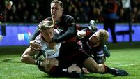 Late missed conversion gives Ulster share of the spoils at Dragons