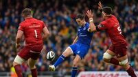 Leinster without Johnny Sexton while Simon Zebo returns for Munster