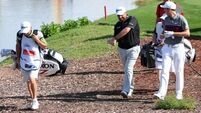 Shane Lowry and Graeme McDowell go into final day in Florida with share of lead