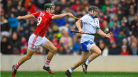Cork captain Seamus Harnedy sent off in losing clash with Waterford