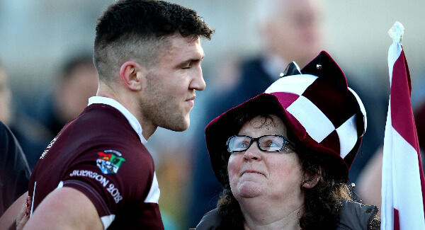 Damien Corner dejected after the game. Pic: INPHO/Ryan Byrne