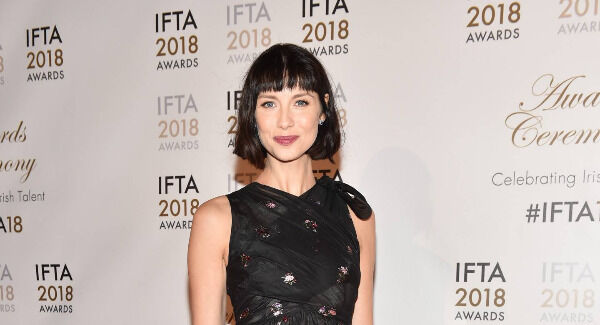 Caitriona Balfe arriving on the red carpet. Photo: Michael Chester.