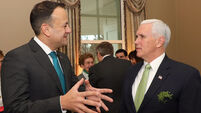 Latest: Mike Pence says he'd welcome Leo Varadkar's partner Matt to his home