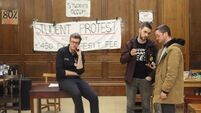 Trinity denies student protesters' claim that they have been locked in with no food or toilet access