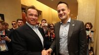 Watch: Taoiseach meets Arnold Schwarzenegger in Austin