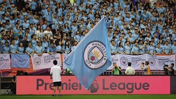 A sea of Manchester City fans in Shanghai, China, for the Premier League Asia Trophy 2019 finals in July. Picture: Lintao Zhang/Getty Images.