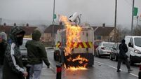 Petrol bombs thrown at police during republican Easter Rising parade