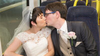 Couple take the train to wedding, six years after their eyes met on Dublin to Limerick service