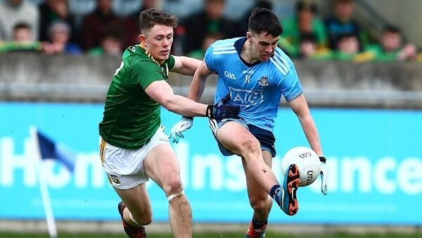 Dublin's Lorcan O'Dell with Meath's Michael Murphy. (©INPHO/Tom O'Hanlon)