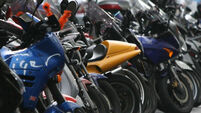 Motorbike parking tax protest