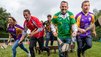 Stars and sporting greats line out for hurling clash in aid of Cancer Society