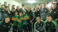 Kerry footballers' act of kindness for children after fan falls ill at Galway game