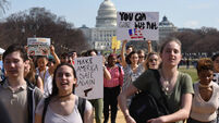 Thousands of US students hold National School Walkout one month after Florida shooting