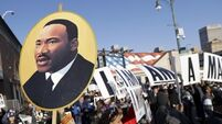 Daughter hails 'apostle of non-violence' Martin Luther King