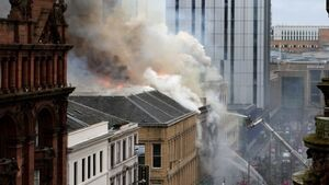 Glasgow city centre residents warned of asbestos fears following 'massive blaze'