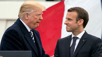 Donald Trump hails strength of US-French alliance as he welcomes Emmanuel Macron to White House