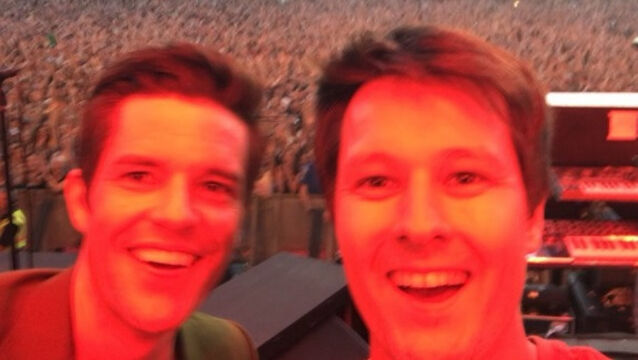 Watch the moment the Killers invite Irish fan on stage to play drums