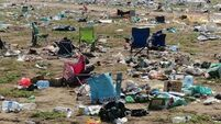 WATCH: Bulldozers remove hundreds of tonnes of waste left over at this year's Electric Picnic
