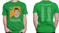 Official limited edition Liam Miller tee designed for upcoming tribute match