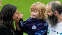 Royal couple get hands on with kids at Croke Park