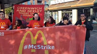UK McDonald's workers hail support for strike in pay row