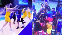 Crazy mass brawl sees 13 players ejected from Australia-Philippines basketball game