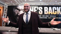 Tyson Fury 'back to reclaim what is rightfully mine - the world'