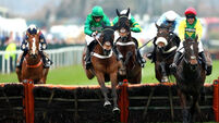 Nicky Henderson completes Grade One treble on first day of Aintree Festival