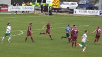 Quick-witted Cabinteely forward bamboozles Galway keeper for bizarre goal